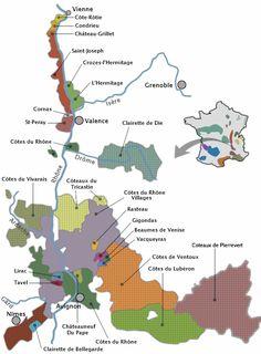 Le vignoble de la vallée du Rhône