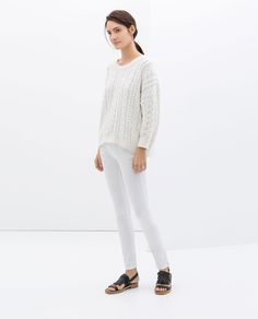 Image 1 of STRAIGHT LEG TROUSERS from Zara