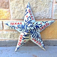 Hey, I found this really awesome Etsy listing at https://www.etsy.com/listing/226927726/vintage-texas-license-plate-star