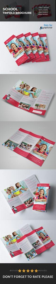 Download Free Graphicriver School Tri fold Brochure #admission #bifold #brochure #child #children #curriculum #education #flyer #halffold #half-fold #junior #kid #kindergarten #open #photo #play #playgroup #play-group #preschool #pre-school #preschool #primary #promotion #pupil #school #teacher #threefold #trifold #twofold