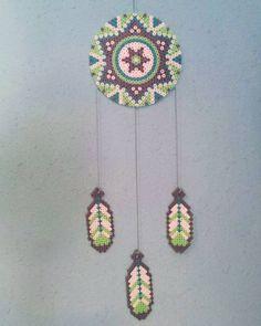 Dreamcatcher hama beads by manos_coloridas
