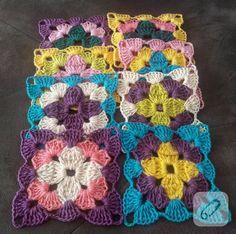 Crochet Motif, Crochet Patterns, Crochet Projects, Granny Squares, Diy, Flowers, Potholders, Crochet Blankets, Coasters