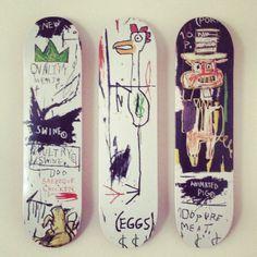 Skateboard decks by Jean Michel Basquiat, shoot by eddygunterligabue