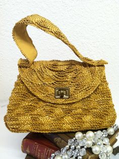 Vintage 1940s Purse 40s Straw Purse by VintageClothingDream, $25.00