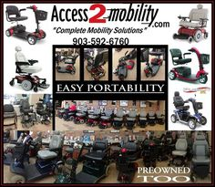 """Access 2 Mobility new and used wheelchair vans and specialty vehicles to find your """"Complete Mobility Solution"""" for your needs. Disability Help, Tyler Texas, Powered Wheelchair, Wheelchairs, Knowledge, Scooters, Type, Products, Motor Scooters"""