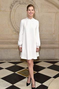 Rosamund Pike attends the Christian Dior show as part of the Paris Fashion Week Womenswear Fall/Winter 2017/2018 at Musee Rodin on March 3, 2017 in Paris, France.