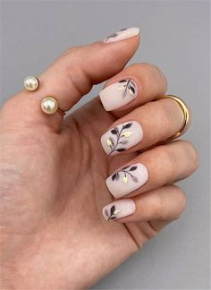 70 Beautiful Natural Short Square Nails Design For Winter Nails & Spring Nails 2020 - Page 3 of 14 - The Secret of Modern Beauty Square Nail Designs, Long Nail Designs, Winter Nail Designs, Blush Nails, Love Nails, Pretty Nails, Sqaure Nails, Arrow Nails, Cute Spring Nails
