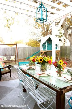 the handmade home - home tour - back yard makeover
