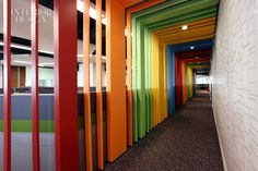 Colour - walkway around office cubicles