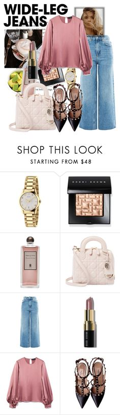 """Spring .. I'm waiting for you"" by mychicfashiondiary ❤ liked on Polyvore featuring Gucci, Bobbi Brown Cosmetics, ELSE, Serge Lutens, Christian Dior, Topshop, Nili Lotan and Valentino"
