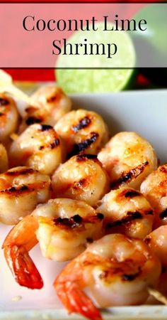 Simple, Delicious Coconut Lime Shrimp {Real Food, Paleo, Primal, Traditional Foods, Seafood Recipes, Healthy Recipes, Easy Recipes, Gluten Free, Grain Free}