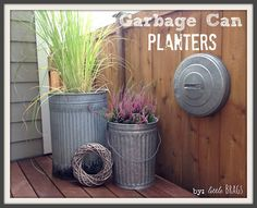 Gardening With Containers s 13 planter ideas that blow all other planters out of the water, container gardening, gardening, repurposing upcycling, Fill trash cans with overflowing greenery Flower Planters, Flower Pots, Diy Planters, Fall Planters, Garden Planters, Container Gardening, Gardening Tips, Container Plants, Container Flowers