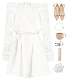 """Smile"" by genesis129 ❤ liked on Polyvore featuring Valentino, Kate Spade, atelier tete and HAY"
