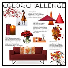"""♡pumpkin and burgundy♡"" by bexy2325 ❤ liked on Polyvore featuring interior, interiors, interior design, home, home decor, interior decorating, Brewster Home Fashions, Ballard Designs, LSA International and Nest Fragrances"
