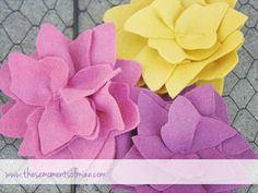 felt flower tutorial by Willow Handmade, via Flickr