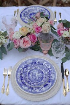 French Country table setting - Spode
