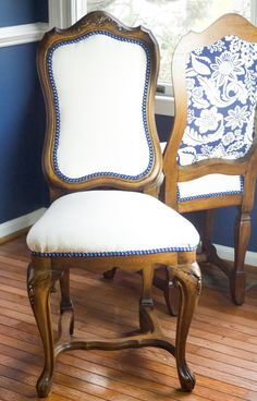 How to reuphoster a dining room chair by Cupcakes and Hammers