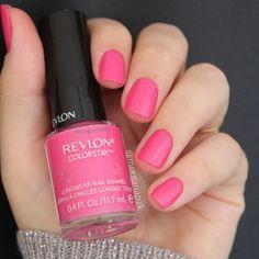 """Passionate Pink"" da Revlon Nail Polish. Cor Chiclé | Barbie | Pink Nails | Unhas Rosas | Delicadas | by @morganapzk"