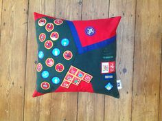 The perfect keepsake, turn his treasured cubs uniform and all those well earned badges into a Kushion it can have pride of place on his bed!! X