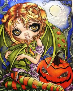 Another Patreon only colour page from Jasmine Becket-Griffith with prismacolors. #jasminebecketgriffith #prismacolorpencils