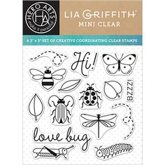 HERO ARTS - Clear Stamps By Lia 3X3- LOVE BUG