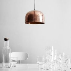 Originally designed by architect Grethe Meyer in 1960, the Menu GM Pendant clearly displays the artists fine sense of simple and sleek idiom that has made so many of her designs into classics.