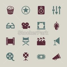 Film Industry Icons - Color Series | EPS10 | Vector | StockerPark