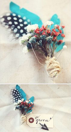 DIY Bohemian Boutonniere | Oh, What Love Studios