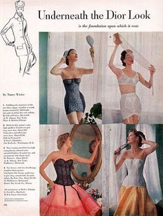 Vintage Girl: New Look Christiana Diora: klasyczna sylwetka lat Lingerie Vintage, Classic Lingerie, Vintage Underwear, Mode Vintage, Vintage Girls, Vintage Ads, Vintage Style, Vestidos Vintage, Vintage Dresses