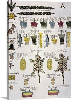 aztec tributes - Google Search Ancient Alphabets, Aztec, Google Search, Prints, Printmaking