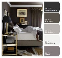 Cozy dark bedroom ways to have a cozy bedroom) brown master bedroom, Gray Bedroom, Home Bedroom, Bedroom Decor, Dark Bedrooms, Bedroom Ideas, Bedroom Colors, Bedroom Inspiration, Gray Rooms, Stylish Bedroom