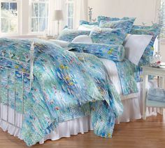 Soft, summery Cuddledown Cotton Sateen Camille Bedding