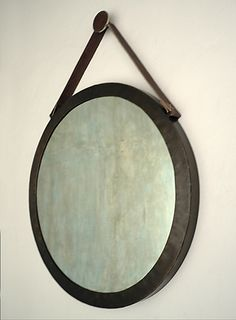 CASAMIDY Mirrors With Leather Straps, Beach House Decor, Home Decor, Stitching Leather, Master Bath, Metal, Wall, California Beach, Powder Room