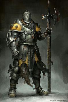 m Fighter Plate Armor Helm Halberd Sword 15thlvl