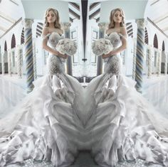 Pnina Tornai 2015 Rhinestone Mermaid Wedding Dresses With Sweetheart Off Shouler Backless Crystal Tulle Luxury Chapel Train Bridal Gowns Hot Beautiful Lace Wedding Dresses Bride Gown From Flip_zone, $202.5| Dhgate.Com