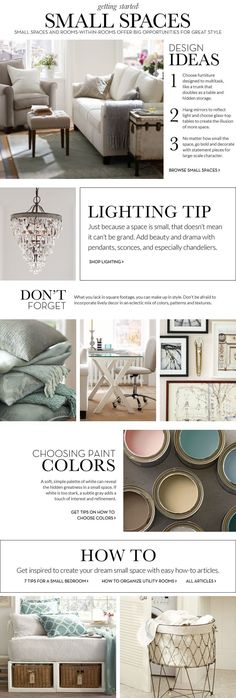 Small Spaces Inspiration & How to Decorate Small Spaces | Pottery Barn