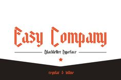 Check out Easy Company Regular by thomas_ramey on Creative Market