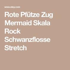 Rote Pfütze Zug Mermaid Skala Rock Schwanzflosse Stretch