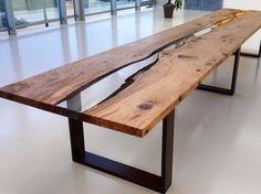 Tavolo in resina e rovere NILO by ANTICO TRENTINO DI LUCIO SEPPI