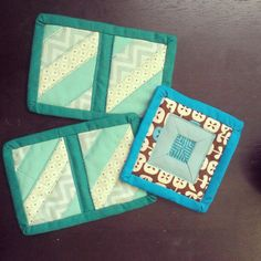 More scrappy coasters! 52/365 #sewing