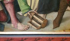 Meister der Lyversberg passion 160-1490: detail of wooden lamp