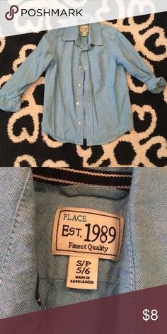 3e091ef08a50 Boys children s place button shirt Boys children s place button up shirt    like new condition.  Smoke free  pet free home  The Children s Place Shirts  ...