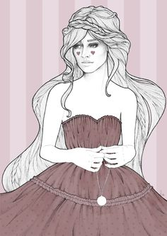Beautiful Lili Lu Fashion Illustration-robe taupe