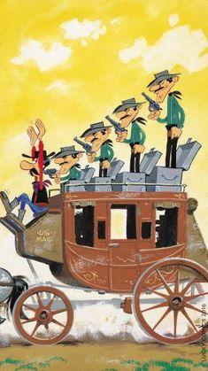 Le cowboy qui tire plus vite que son ombre. Dalton Lucky Luke, Bd Lucky Luke, Classic Comics, Classic Cartoons, Bd Comics, Funny Comics, Comic Book Artists, Comic Book Characters, Dylan Dog