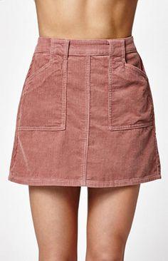 Corduroy Utility Skirt