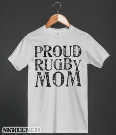 Proud Rugby Mom T Shirt