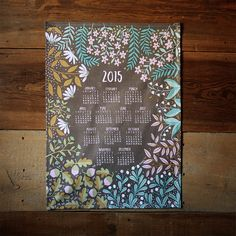 An old-fashioned style (the durable tea towel calendar) gets a modern update with this fresh floral print. #etsy