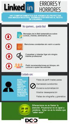Errores y horrores en #Linkedin. #infografía #rrhh