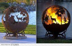 Gorgeous Metal Cutwork Fire Pit!