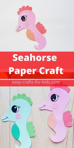 How to make a paper seahorse #seahorsecrafts